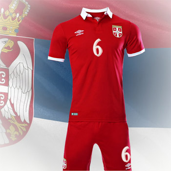 bdc447898 Umbro Serbia home kit 16/17 jersey + shorts with print : FSS Online Shop